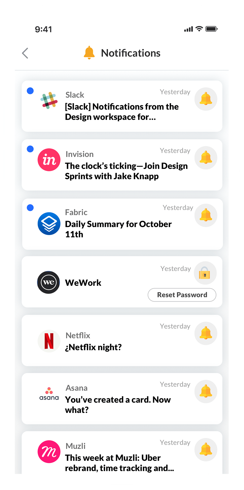june.ai notifications feed